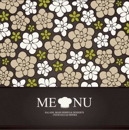 Prime pattern menu cover 01 vector