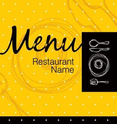 free vector Exquisite menu cover 05 vector