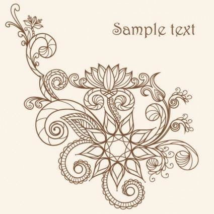 free vector Fine line artwork pattern 02 vector