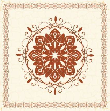 free vector The exquisite european pattern 05 vector