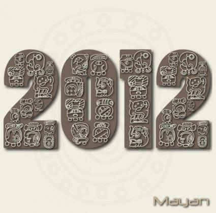 Mayan patterns 04 vector