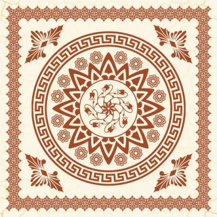 free vector The exquisite european pattern 01 vector