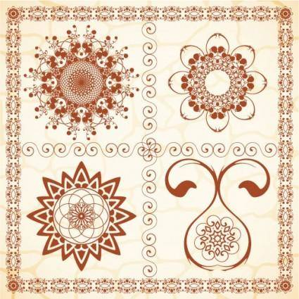 free vector Exquisite european pattern 03 vector