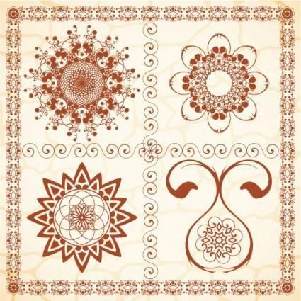 Exquisite european pattern 03 vector