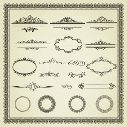 free vector European lace pattern 01 vector