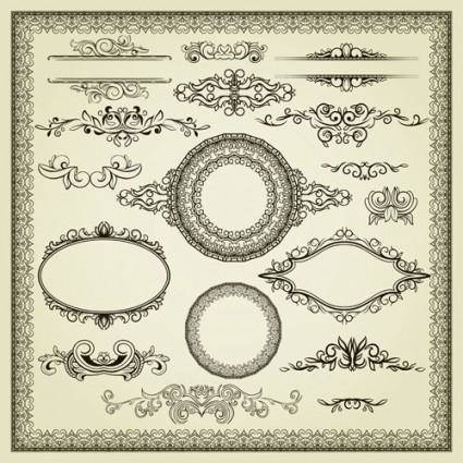 free vector European lace pattern 02 vector