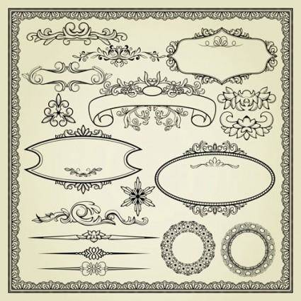 free vector Europeanstyle lace pattern 04 vector