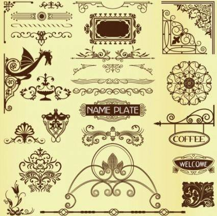 Classic lace pattern 04 vector