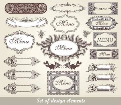 free vector Exquisite lace pattern 02 vector