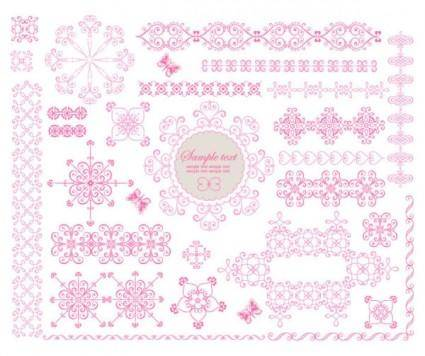 free vector Exquisite lace pattern 03 vector