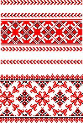 Cross stitch patterns 05 vector