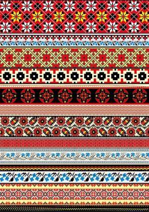 Cross stitch patterns 06 vector