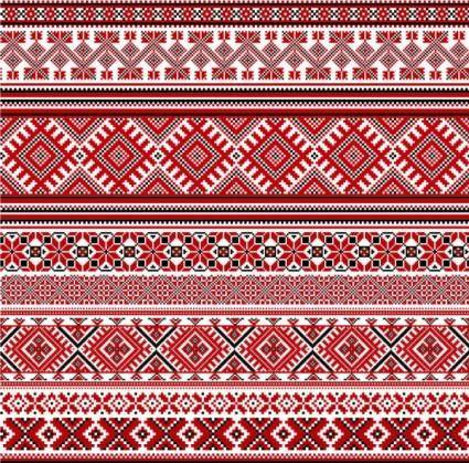Cross stitch patterns 08 vector