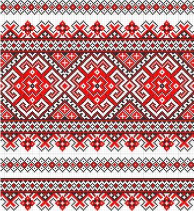free vector Cross stitch patterns 09 vector