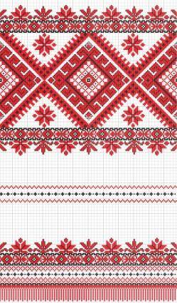 Cross stitch patterns 01 vector