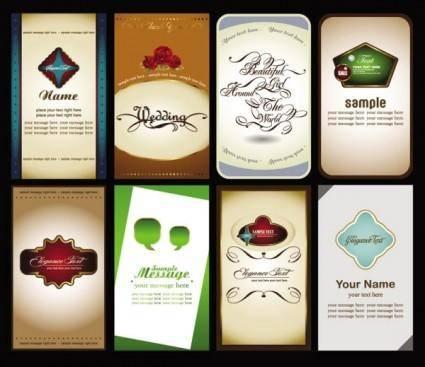 Beautiful card 03 vector