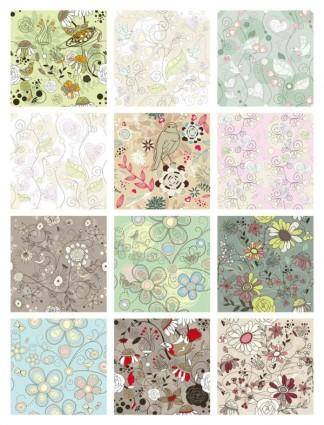 free vector Exquisite patterns 01 vector