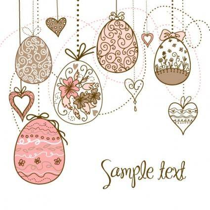 Handpainted easter pattern 03 vector