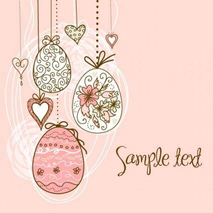 Handpainted easter pattern 05 vector
