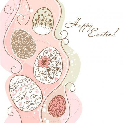 free vector Handpainted easter pattern 01 vector