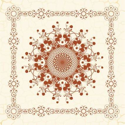The exquisite european pattern 02 vector