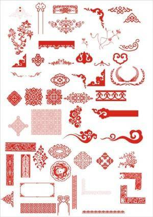 free vector The chinese classical boutique pattern vector