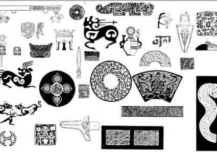 free vector Ancient pattern pattern 02 vector