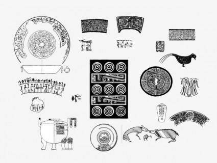 free vector Ancient the patterns pattern 01 vector