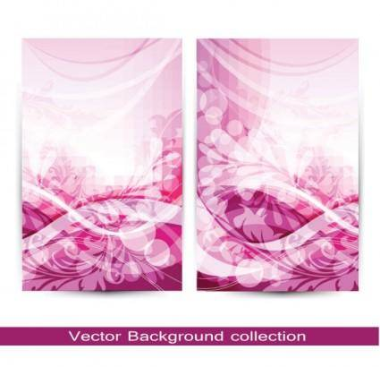 free vector Gorgeous pattern card 01 vector