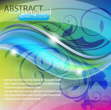 free vector Dynamic flow line pattern 01 vector