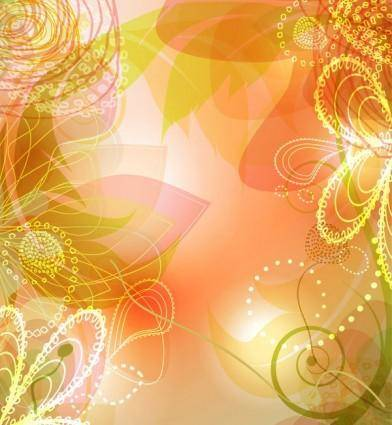 free vector Dynamic flow line the petal patterns vector