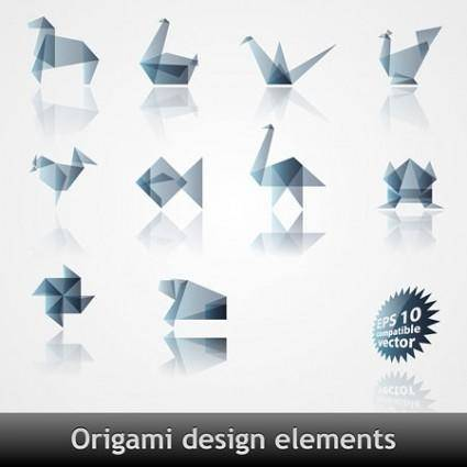 Origami effect pattern vector