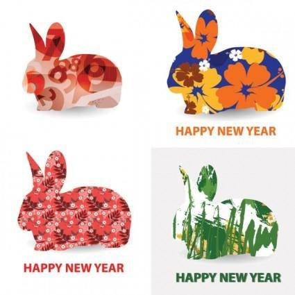 free vector Rabbit pattern vector