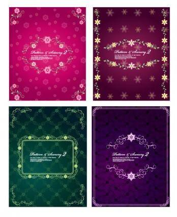 free vector 4 lovely lace pattern vector fashion
