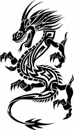 Dragonshaped pattern 02 vector