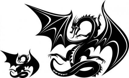 free vector Dragonshaped pattern 06 vector