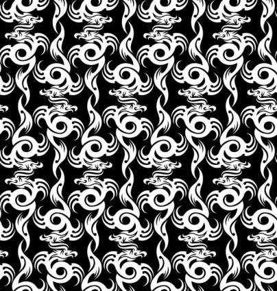 free vector Dragonshaped pattern 01 vector