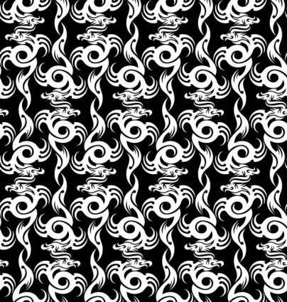 Dragonshaped pattern 01 vector
