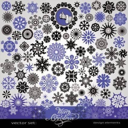 free vector Snowflake pattern vector