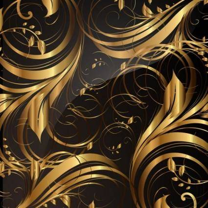 free vector Gold pattern patterns 01 vector