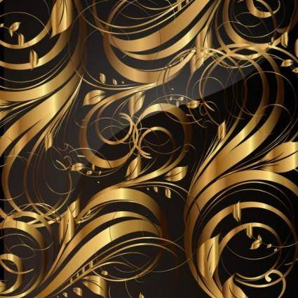 free vector Gold pattern patterns 05 vector