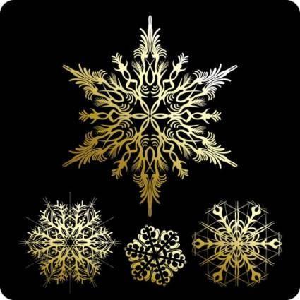 free vector Beautiful snowflake pattern 01 vector