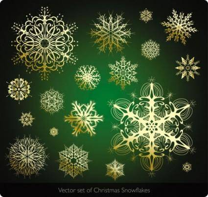 free vector Beautiful snowflake pattern 04 vector