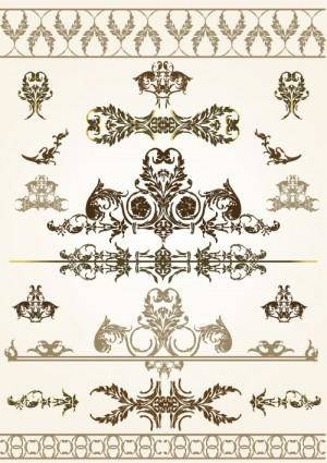 Beautiful lace pattern 03 vector