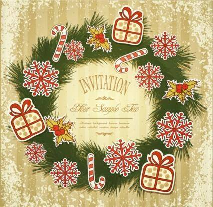 free vector Christmas patterns 01 vector