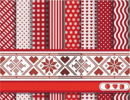 A variety of fabric patterns 01 vector