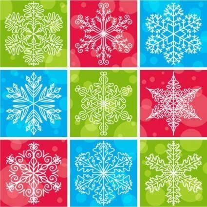 Snowflake pattern 02 vector