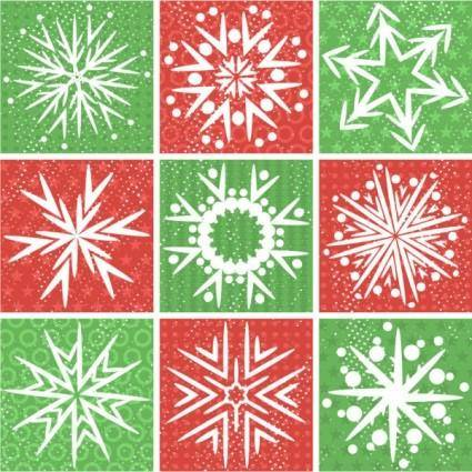 free vector Snowflake pattern 01 vector