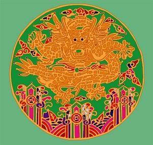 Round dragon chinese classical pattern vector