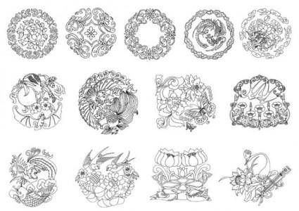 free vector Classical patterns vector